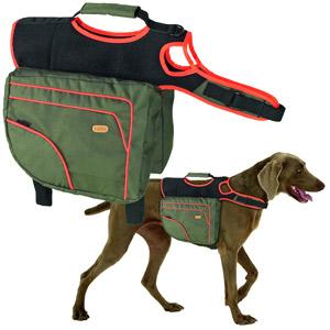 Authentic Dog Sport Multifunktionssatteltasche grün/orange