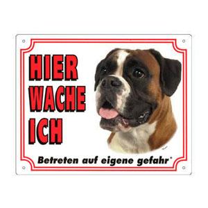 GRATIS Hunde Warnschild, Boxer