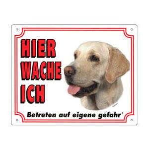 GRATIS Hunde Warnschild, Labrador Retriever gelb