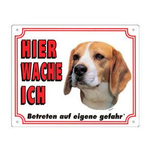 GRATIS Hunde Warnschild, Beagle