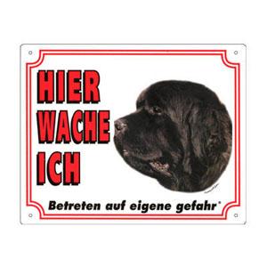 GRATIS Hunde Warnschild, Neufundländer