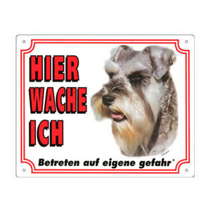 FREE Dog Warning Sign, Schnauzer
