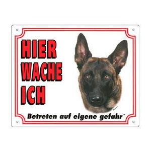 GRATIS Hunde Warnschild, Malinois