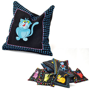 Cool Cats Cat Pillow