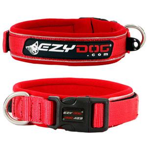 Ezydog - Neoprene Dog Collar Red