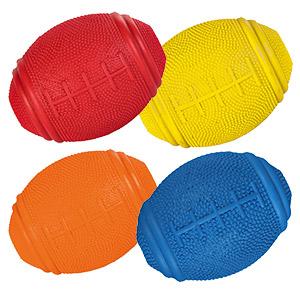 Snack Rugbyball aus Naturgummi - 8 x 6 cm