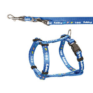 Puppy Dog Harness With Lead - Blue