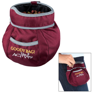 Dog Activity Snack-Tasche Goody Bag - Rot