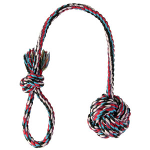 Playing Rope with Woven-in Ball - 50 x 7cm