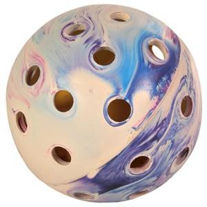 Lochball mit Schelle aus Naturgummi