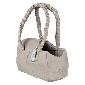 King Of Dogs Suede-Look Carrier Beige - 30x14x20cm
