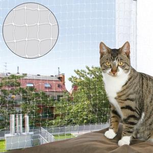Katzenschutznetz transparent, 3 x 1,5 m